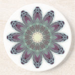 Dragonfly Wings Mandala Beverage Coaster