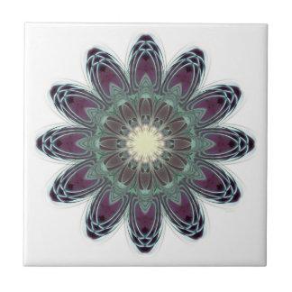 Dragonfly Wings Mandala Ceramic Tile