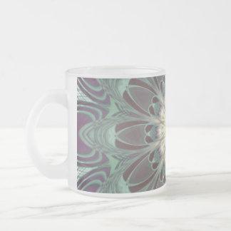 Dragonfly Wings Mandala Frosted Glass Coffee Mug