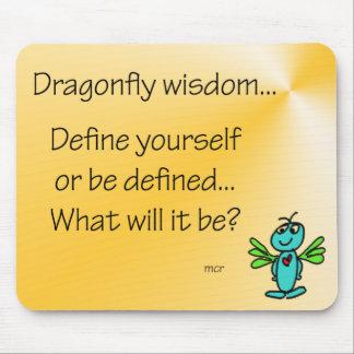 Dragonfly Wisdom Definition Mousepad