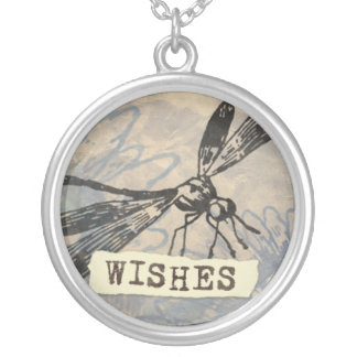 Dragonfly Wishes necklace round