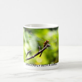 DRAGONFLY WITH A SMILE! COFFEE MUG