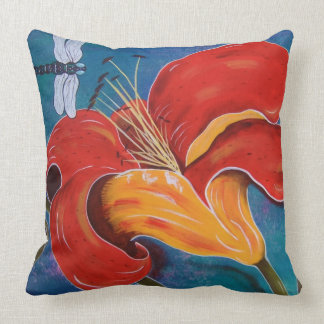 Dragonfly with Lily Pillows