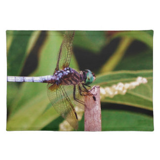 Dragonfly with white flowers place mat