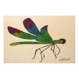 Dragonfly Wood Wall Art
