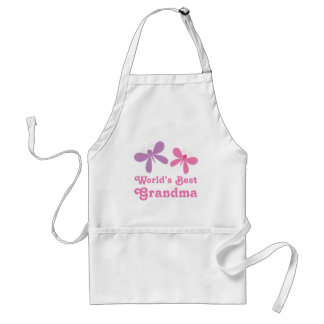 Dragonfly World's Best Grandma Gift Adult Apron
