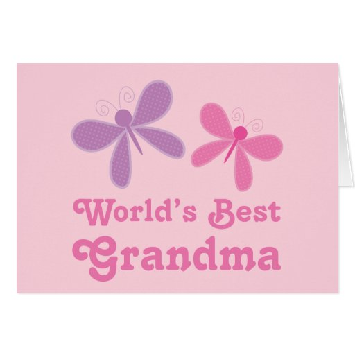 Dragonfly World's Best Grandma Gift Cards