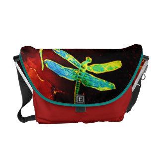 dragonfly, wornfoot messenger bag