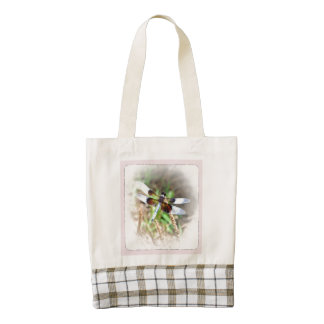 DRAGONFLY ZAZZLE HEART TOTE BAG