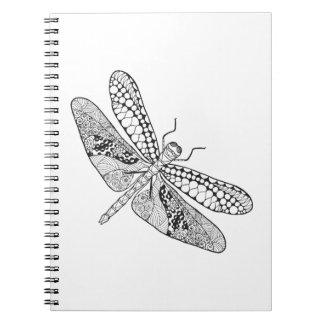 Dragonfly Zendoodle Notebook