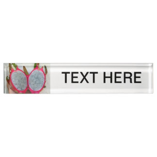 dragonfruit abstract cut in half neat fruit food name plate