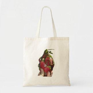 Dragonfruit held in fingers photo bag