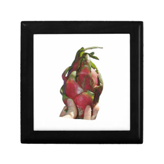 Dragonfruit held in fingers photo gift boxes