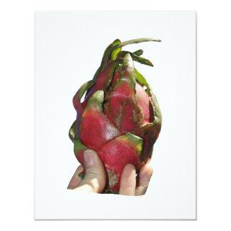 Dragonfruit held in fingers photo custom invite