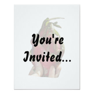 Dragonfruit held in fingers photo personalized invitation