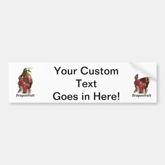 Dragonfruit held in fingers with text photo Pitaya Bumper Sticker