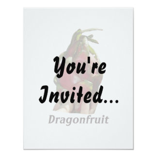 Dragonfruit held in fingers with text photo Pitaya Personalized Invitation