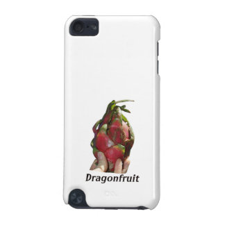Dragonfruit held in fingers with text photo Pitaya iPod Touch (5th Generation) Cover
