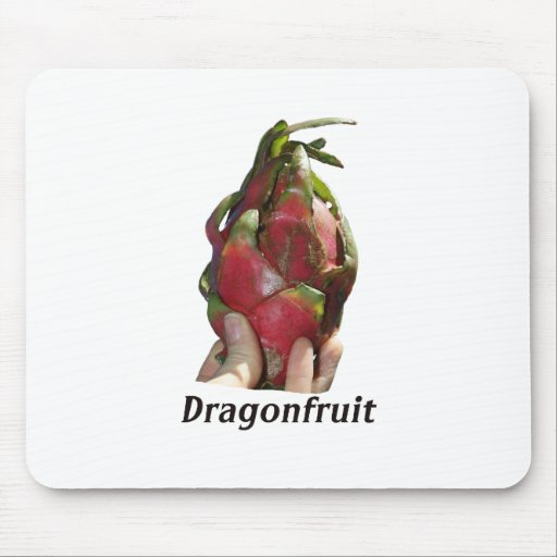 Dragonfruit held in fingers with text photo Pitaya Mouse Pad