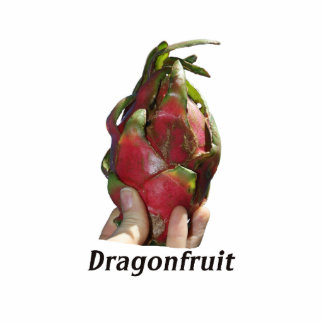 Dragonfruit held in fingers with text photo Pitaya Acrylic Cut Out