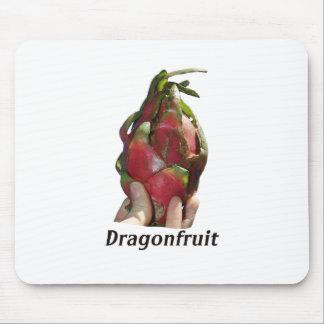 Dragonfruit se sostuvo en dedos con la foto Pitaya Tapete De Raton