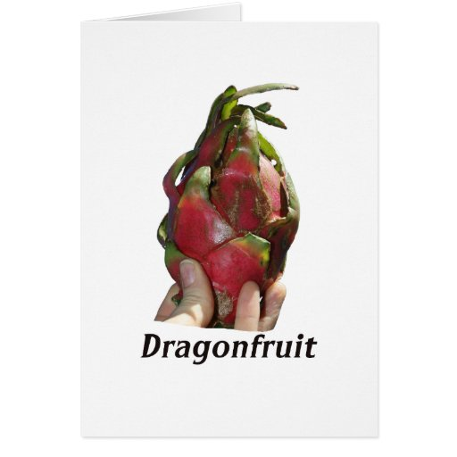 Dragonfruit se sostuvo en dedos con la foto Pitaya Tarjeta Pequeña