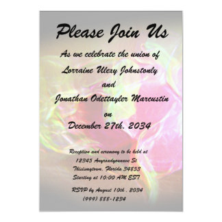 dragonfruit stylized glowing pink abstract 5x7 paper invitation card