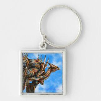 Dragongiant (color) Premium Square Keychain