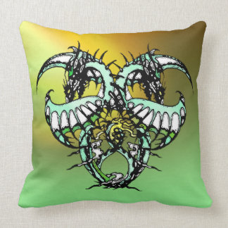 Dragonheart: Green Ice Throw Pillow