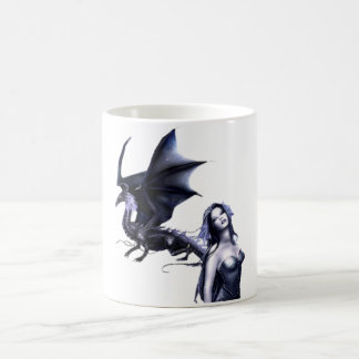 Dragonlady - black coffee mug