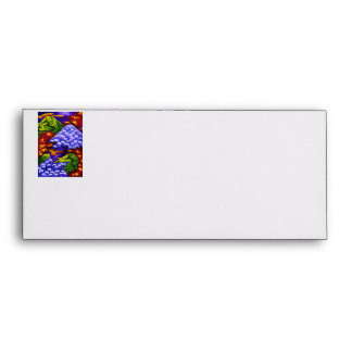 Dragonland, Abstract Green Dragons, Blue Mountains Envelope