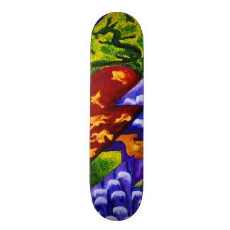 Dragonland, Abstract Green Dragons, Blue Mountains Skateboard Decks