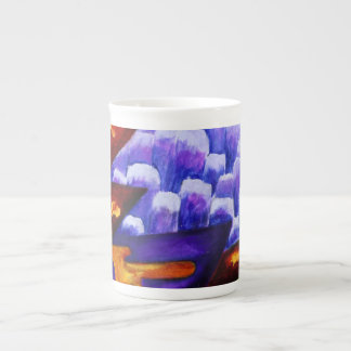 Dragonland, Abstract Green Dragons, Blue Mountains Tea Cup