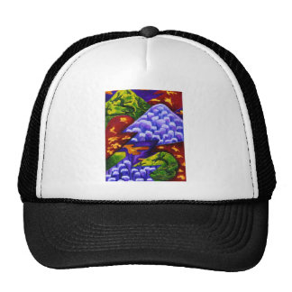 Dragonland, Abstract Green Dragons, Blue Mountains Trucker Hat
