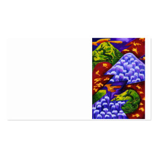 Dragonland - dragones verdes y montañas azules del plantillas de tarjeta de negocio