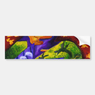Dragonland - Green Dragons & Blue Ice Mountains Bumper Sticker