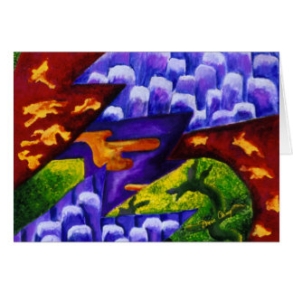 Dragonland - Green Dragons & Blue Ice Mountains Card