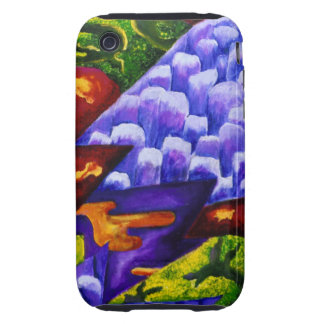 Dragonland - Green Dragons & Blue Ice Mountains Tough iPhone 3 Covers