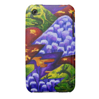 Dragonland - Green Dragons & Blue Ice Mountains iPhone 3 Cover