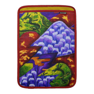 Dragonland - Green Dragons & Blue Ice Mountains MacBook Air Sleeve