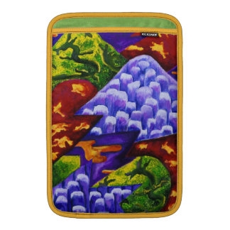Dragonland - Green Dragons & Blue Ice Mountains MacBook Sleeve
