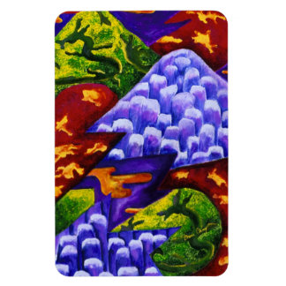 Dragonland - Green Dragons & Blue Ice Mountains Magnet