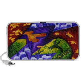 Dragonland - Green Dragons & Blue Ice Mountains Mini Speaker