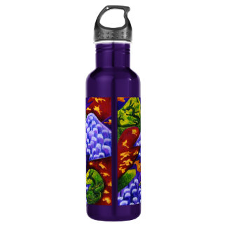 Dragonland - Green Dragons & Blue Ice Mountains 24oz Water Bottle