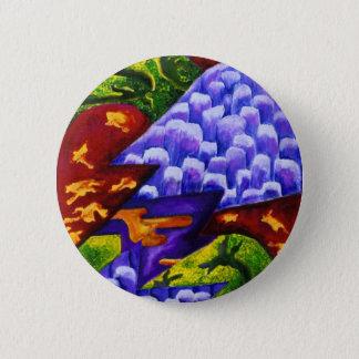 Dragonland - Green Dragons & Blue Ice Mountains Pinback Button
