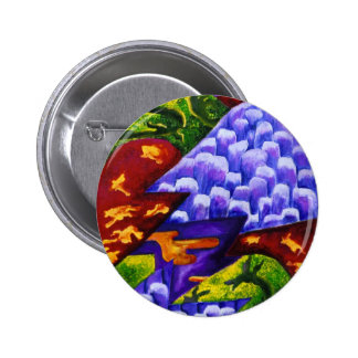 Dragonland - Green Dragons & Blue Ice Mountains Pinback Button