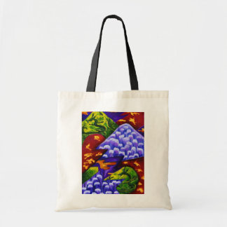 Dragonland - Green Dragons & Blue Ice Mountains Tote Bag