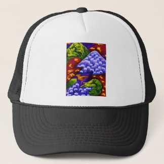 Dragonland - Green Dragons & Blue Ice Mountains Trucker Hat