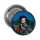 """Dragonling botón del jardín III"" Pin"