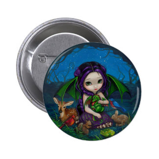 Dragonling botón del jardín III Pin